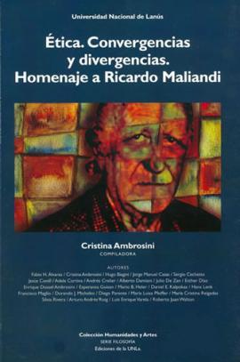 Cubierta para Ética: convergencias y divergencias. Homenaje a Ricardo Maliandi