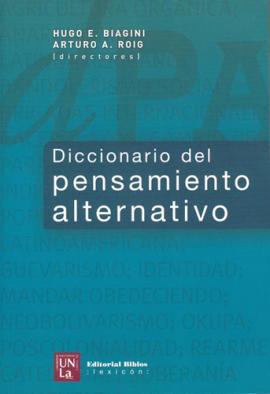 Cubierta para Diccionario del pensamiento alternativo