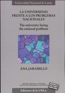 Cubierta para La universidad frente a los problemas nacionales/ The University Facing the National Problems.