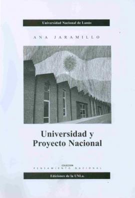 Cubierta para Universidad y proyecto nacional