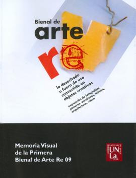 Cubierta para Memoria visual de la Primera Bienal de Arte RE 09