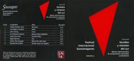 Cubierta para Festival Internacional Sonoimágenes, Vol. 3