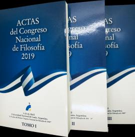 Cubierta para Actas del Congreso Nacional de Filosofía 2019: En homenaje al Primer Congreso Nacional de Filosofía, Mendoza 1949. Tomos I, II y III