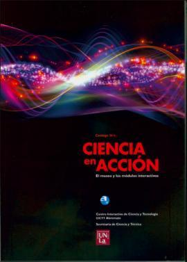 Cubierta para Ciencia en acción - Catálogo 2014: El museo y los módulos interactivos