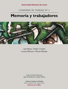 Cubierta para Memoria y Trabajadores -  Cuaderno de Trabajo Nº 2
