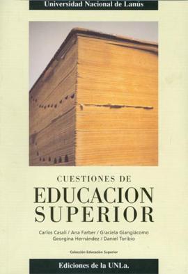 Cubierta para Cuestiones de Educación Superior